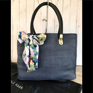 👜👜👜COLE HAAN Benson WOVEN LEATHER TOTE